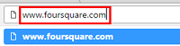 Visit the Foursquare website in your web browser of choice.