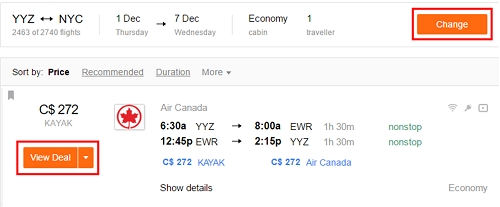 View the details of your flights.