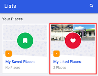 Create a Foursquare list to remember the places you've been, and sort them into categories.