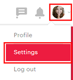 Access your Meetup account settings
