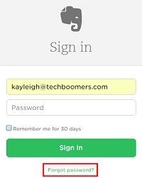 Click Forgot Password
