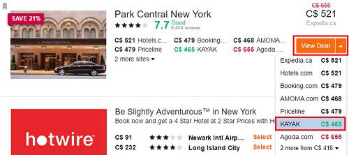 Click View Deal to see the lowest prices and compare them before booking.