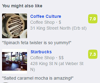 View Foursquare's suggestions about the places you would like based on how you've rated places you've already been.