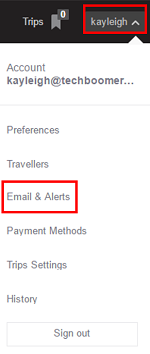 Access price alerts to help track prices you are interested in over time.