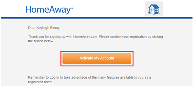 Activate your Homeaway account