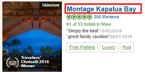 Click on any hotel name to view it in more detail