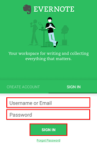 Enter your email address and password, and tap Sign in