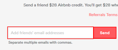 How to refer people to Airbnb via email