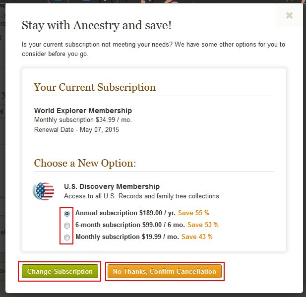 how to permanently delete ancestry account