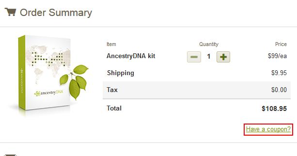 ancestrydna kit order coupon