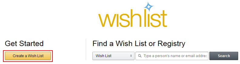Create an Amazon Wish List
