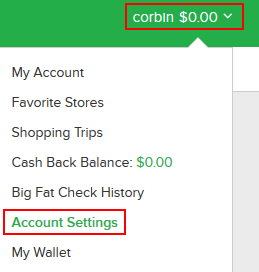 How to access your Ebates account settings