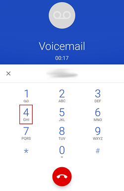How to record or change your voicemail greeting on android phone tap personal settings button on dial pad m4hsunfo