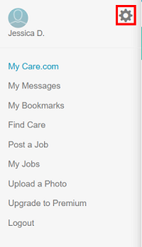 Care.com settings icon