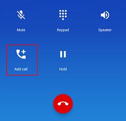 Add Call button