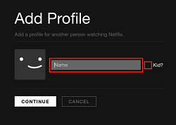 Enter information about profile user