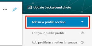 Add new section to LinkedIn profile