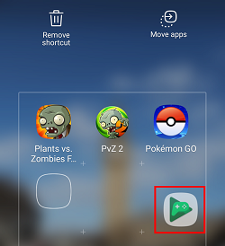 Add other apps to the folder on home screen
