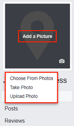 Add a Picture button for profile picture