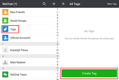 Add tags to contacts