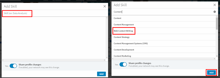 Add specific skills to your LinkedIn profile