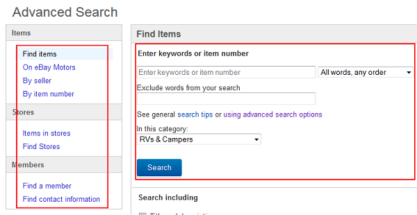 Use advanced search criteria to do a more specific search