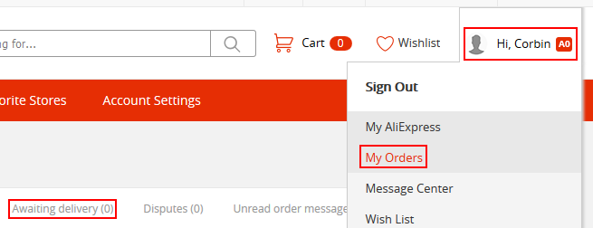 How to check the status of your AliExpress orders