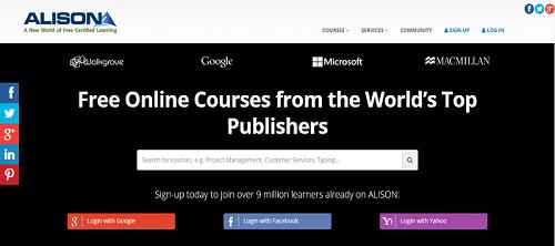 Alison homepage
