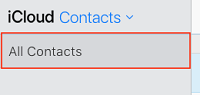 All Contacts button