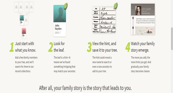 Process of using Ancestry