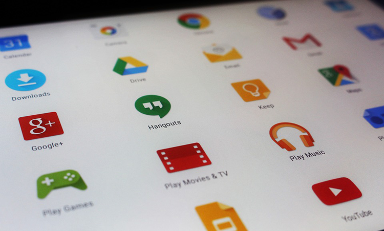 Android apps on a tablet