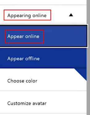 Appear online on Xbox