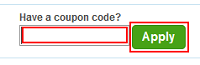 Priceline Apply button for checkout
