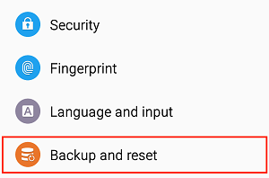 Backup & Reset button
