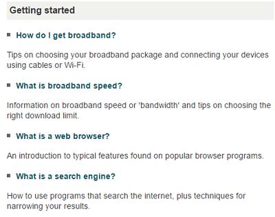 BBC Webwise topics
