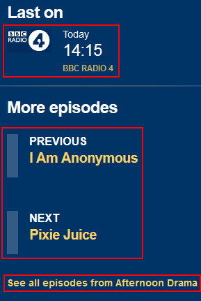 How to find other episodes of a BBC iPlayer Radio program