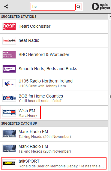 How to search for BBC iPlayer Radio app stations and programs