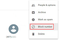Block Google Voice number
