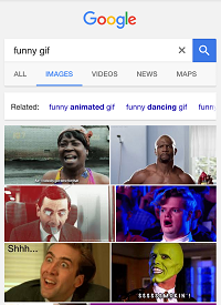 Search for GIFs on the Internet