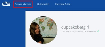 Browse matches to find matches in your area
