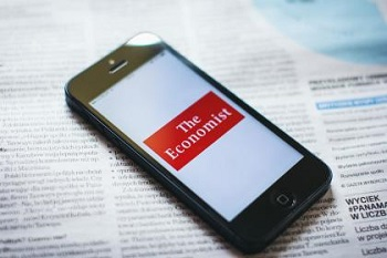 The Economist app on a smart phone