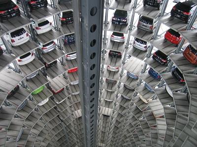 Car manufacturing plant storage