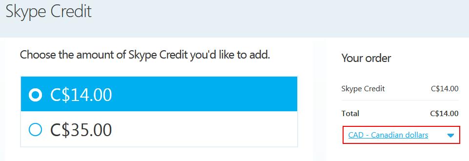 Buy skype credit online