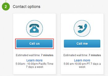 Call eBay customer service