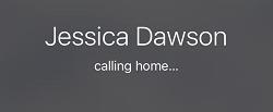 iPhone call ringing screen