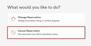 Cancel Reservation button