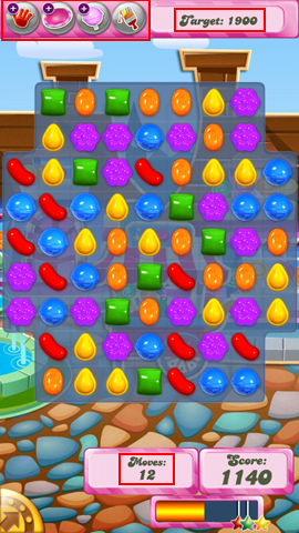 How to read the Candy Crush Saga game board