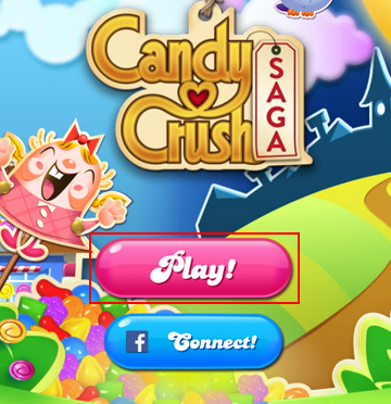 How to start play from the Candy Crush Saga title screen