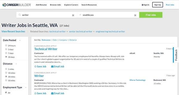 CareerBuilder website