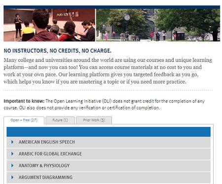 Carnegie Mellon Open Learning Initiative